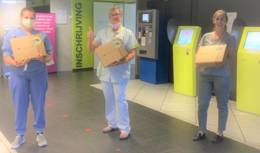 AZ Jan Portaels Vilvoorde verpleegkundigen krijgen geschenkpakket Oxfam