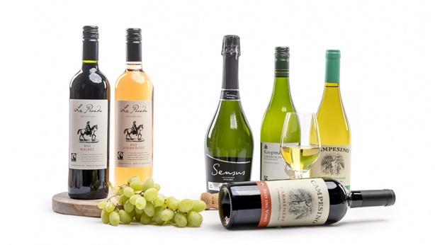 Assortiment vegan wijnen