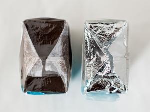 aluminium vrije verpakking deca koffie bovenaanzicht