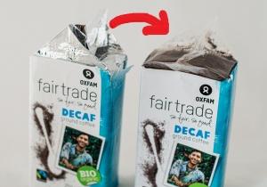aluminium vrije verpakking deca koffie met pijl