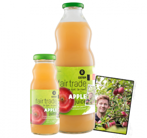 Jus de pommes de Oxfam Fair Trade